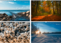Preview: Nature September, October, November, December wall calendar photo calendar